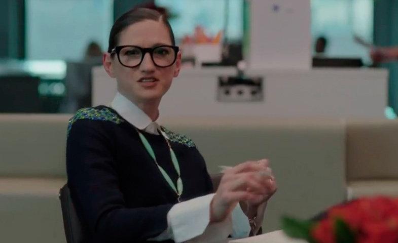 Jenna Lyons, Directora Creativa de JCrew, es la jefa de Hannah en la tercera temporada de la serie.   © Girls