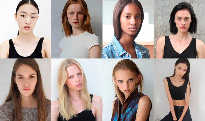 The booker will have to take natural photos of their models: without makeup, hairstyling or Photoshop.