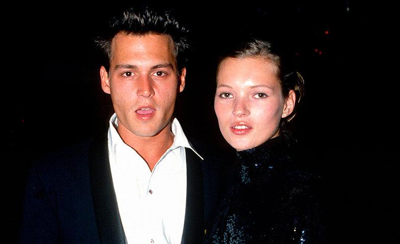 Kate Moss y Johnny Depp se convirtieron en una pareja icónica en los noventa.  © Cordon Press