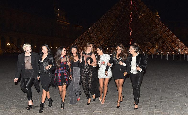 Kim y sus amigas la noche de su despedida en París.   © Cordon Press