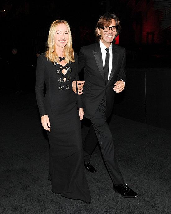 Frida Giannini y Patrizio di Marco el pasado mes de noviembre en Los Ángeles.  © Cordon Press