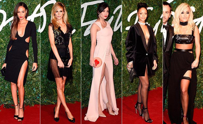 Joan, Poppy, Daisy Lowe, Rihanna y Rita Ora.   © Getty Images