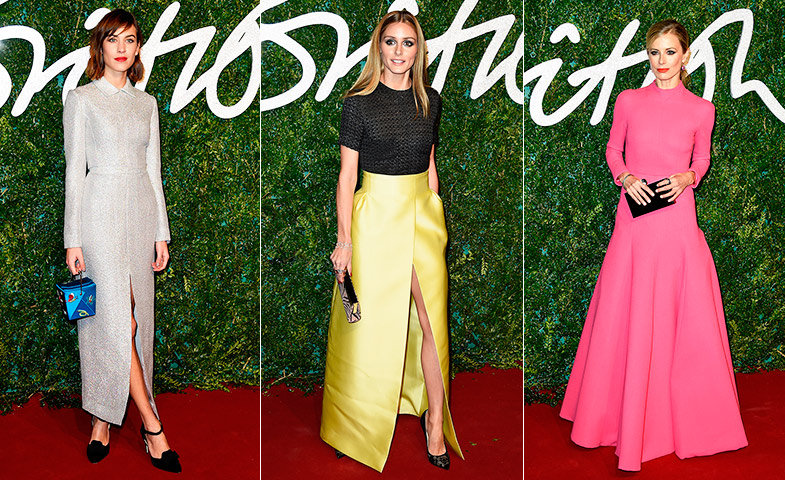 Alexa Chung, Olivia Palermo y Laura Bailey.   © Getty Images