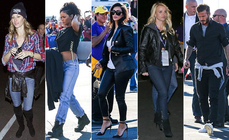 Gisele Bündchen, Rihanna, Kim Kardashian, Britney Spears y David Beckham. © Cordon Press
