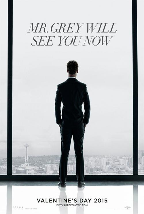 Cartel promocional de la película '50 sombras de Grey'.