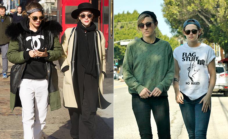 Los rumores han apuntado a la bisexualidad de Cara Delevingne y Kristen Stewart por sus muchas apariciones con amigas... © Cordon Press