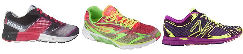 Son muy bonitas y eso, pero las zapatillas para correr no vale elegirlas solo por el color. En la imagen, modelo de Reebok, Skechers y New Balance.