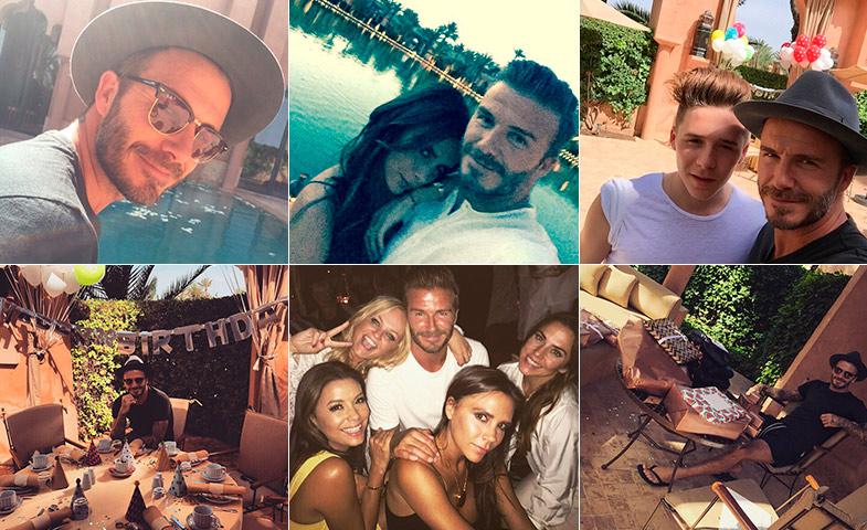 Las primeras imágenes de David en su perfil © Instagram