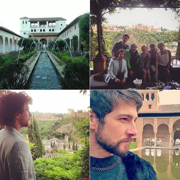 Imágenes de los Instagrams de Blanca (@blanca_suarez), Álvaro Cervantes (@alvarocervan) y Félix Gómez (@felixgomezactor).