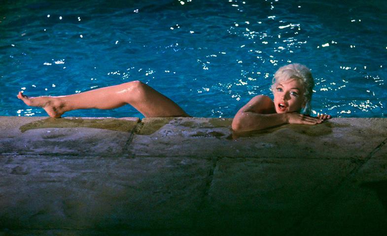Marilyn Monroe en la inacabada Something's Gotta Give (1962).