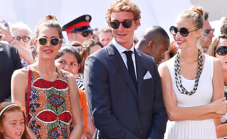 Beatrice y Pierre junto a Carolina en un evento monaguesco el pasado 11 de julio. © Cordon Press
