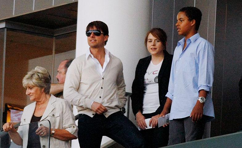 Y otro #throwback, con Tom Cruise y sus hijos. © Cordon Press