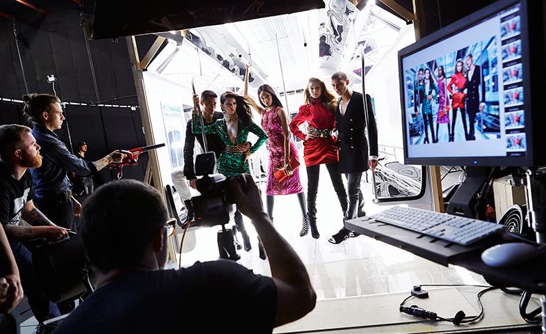 Making of de la campaña de Balmain para H&M. © Cortesía de H&M