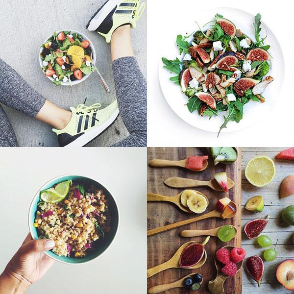 ¿Cómo que no se te ocurren otras formas de hacer tu ensalada? ¡Instagram (y la fiebre healthy) es toda una fuente de inspiración. © ¡Ñam! @rrayyme, @powerfoodies, @sandrasantacana y @deliciousmartha