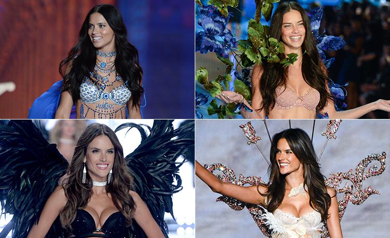 A la izquierda, 2014; a la derecha, 2015. Encuentra las 7 diferencias del look de belleza de Alessandra y Adriana... © Cordon Press