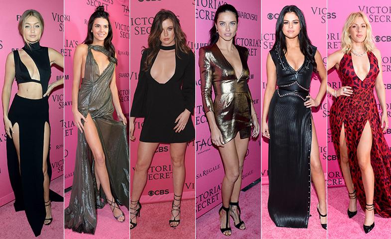 Gigi Hadid, Kendall Jenner, Ireland Baldwin, Adriana Lima, Selena Gomez y Elie Goulding, bien de derrochar sexy en la pink carpet. © Cordon Press