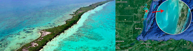 La isla se ubica a pocos kilómetros de la costa continental de Belice.