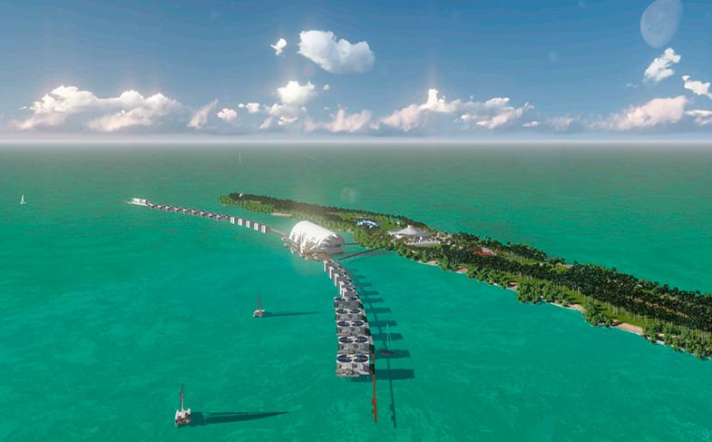 42 hectáreas de isla para desarrollar un resort ecosostenible.