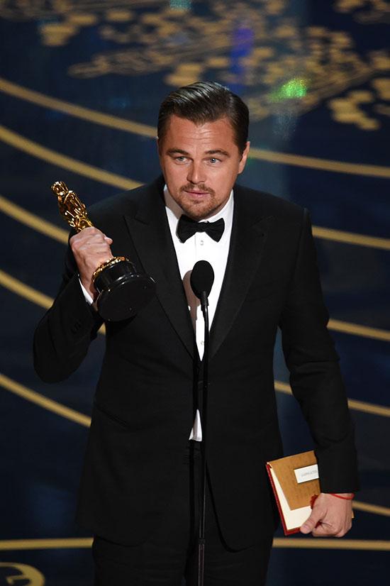 Leo, por fin, consiguió su Oscar. © Getty Images