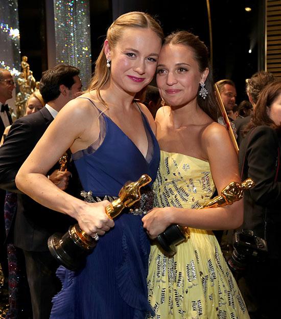 Brie Larson y Alicia Vikander son, desde ya mismo, las chicas del año. © Getty Images