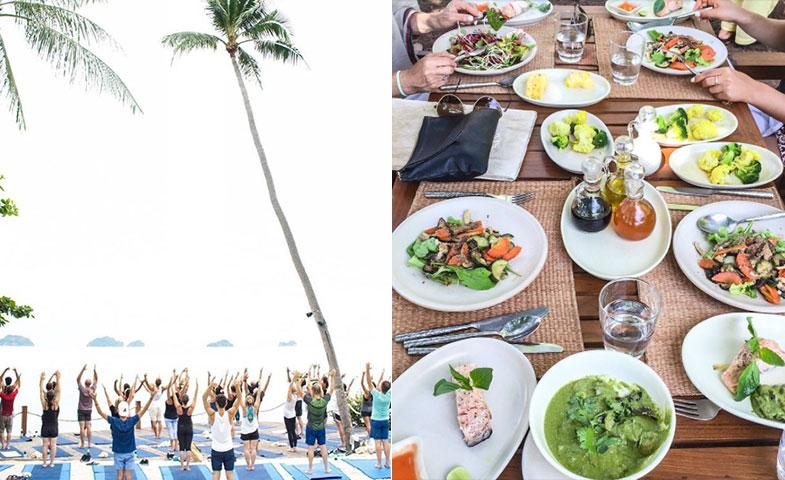 Los invitados disfrutaron de cuatro días en el paraíso para celebrar el enlace, con menús sanos y clases de yoga mirando al mar. © Instagram @JSHealth