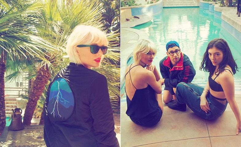 Taylor Swift en Coachella, con (muchos) amigos y melena rubio platino. © Instagram @taylorsiwft