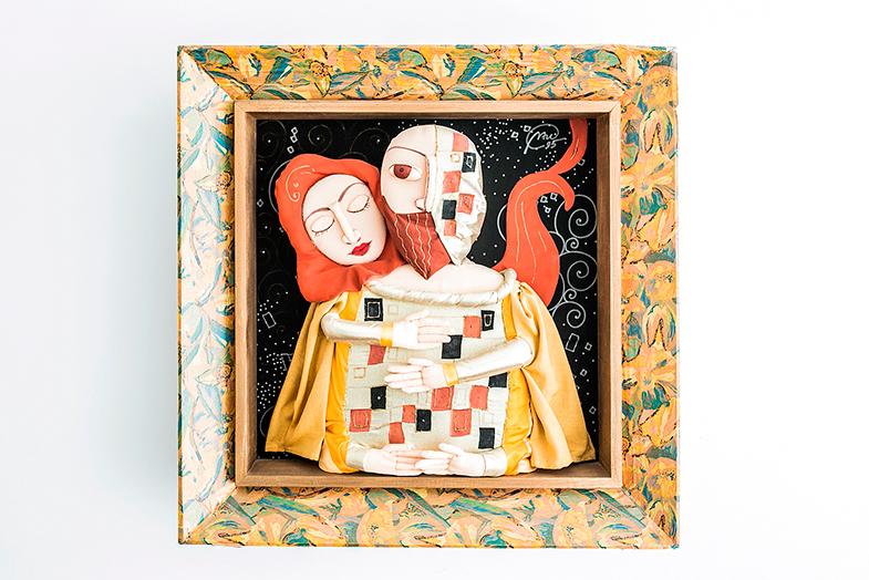 """""""Tiene esa locura de Kandinsky, esos colores, me llamó la atención porque resulta muy especial"""", explica Belén de este cuadro que adquirió en ARCO."""