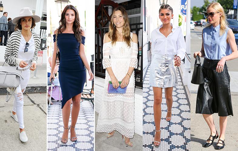 Alessandra Ambrosio, Emily Ratajkowski, Zendaya y Kate Bosworth son habituales.