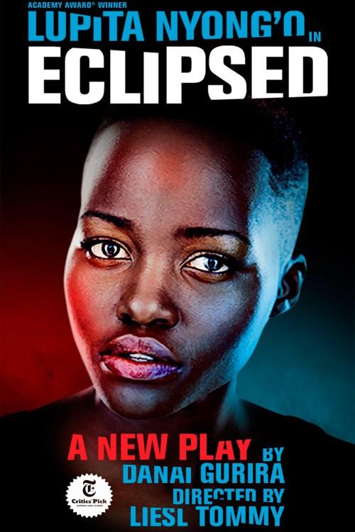 Cartel de la obra Eclipsed que protagoniza Lupita Nyong'o.