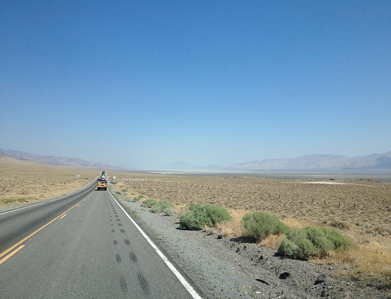 Llegando al desierto...