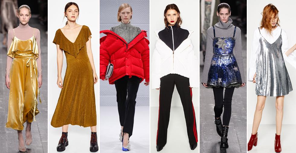 Los abrigos de plumas envolventes, los juegos de superposiciones, los metalizados, el look bailarina...
