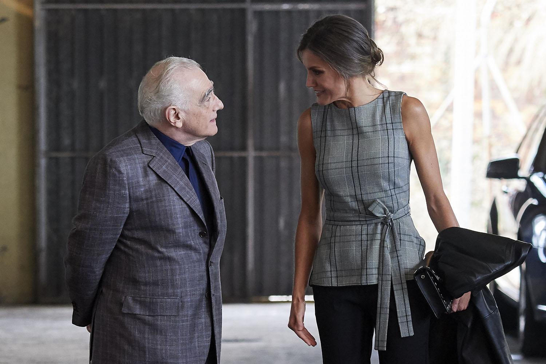 Martin Scorsese y la reina Letizia