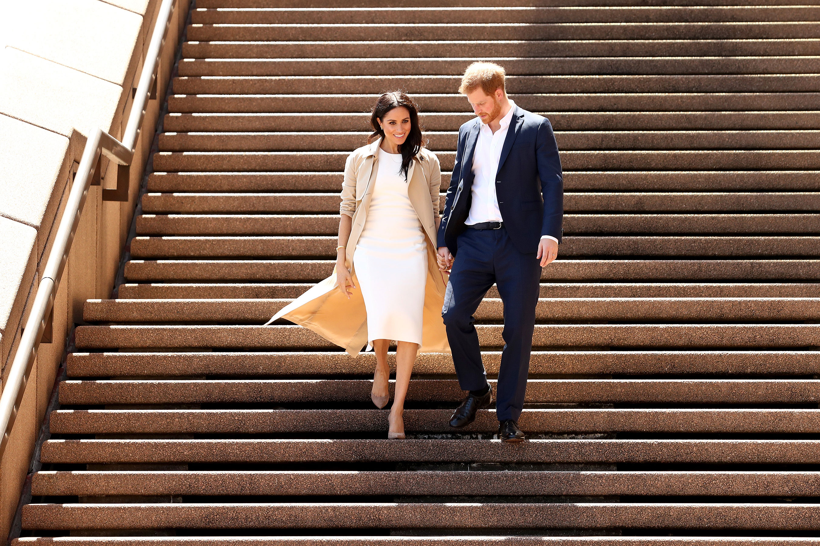 Meghan Markle y el príncipe Harry en su visita a Australia