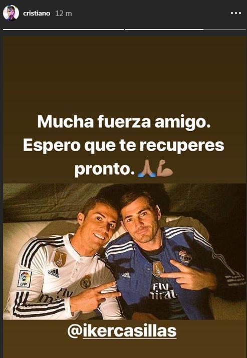 El mensaje de Cristiano Ronaldo a Iker Casillas.