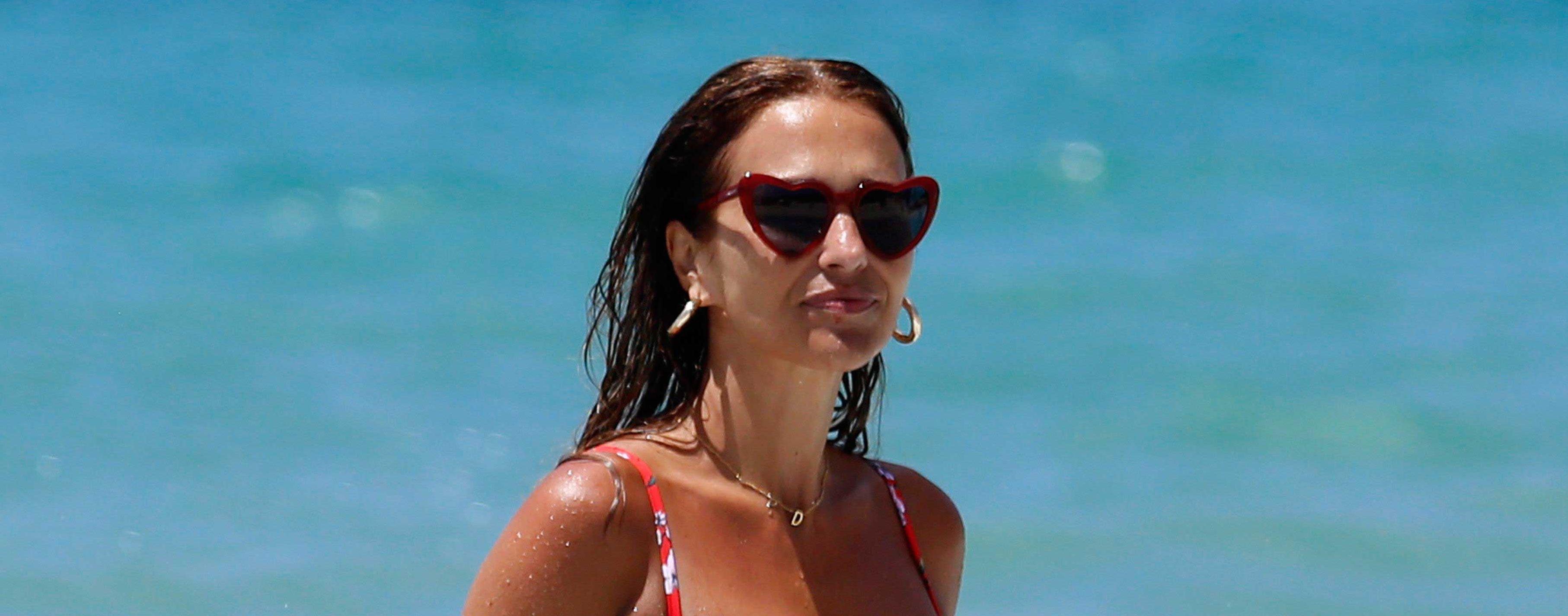 Paula Echevarría y su bikini animal print en Italia de vacaciones
