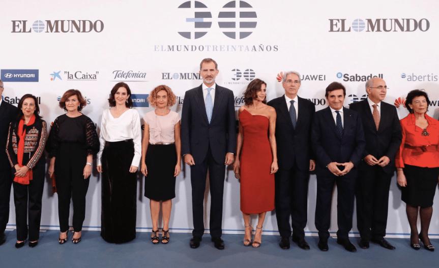 La reina Letizia deslumbrante en la celebración del 30 aniversario del diario El Mundo