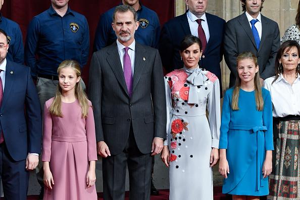 La reina viste un Pertegaz horas antes de los Premios Princesa de Asturias