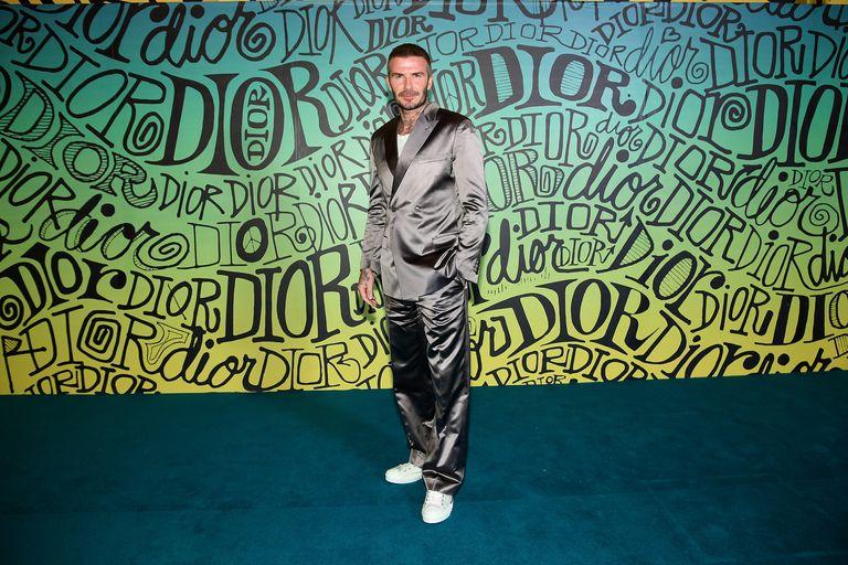 EL guapo de la semana en Grazia es David Beckham vestido de Dior en el desfile de Dior en Miami