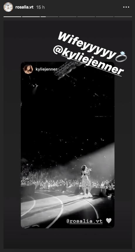 Rosalía y Kylie Jenner se comprometen en Instagram y la foto se hace viral