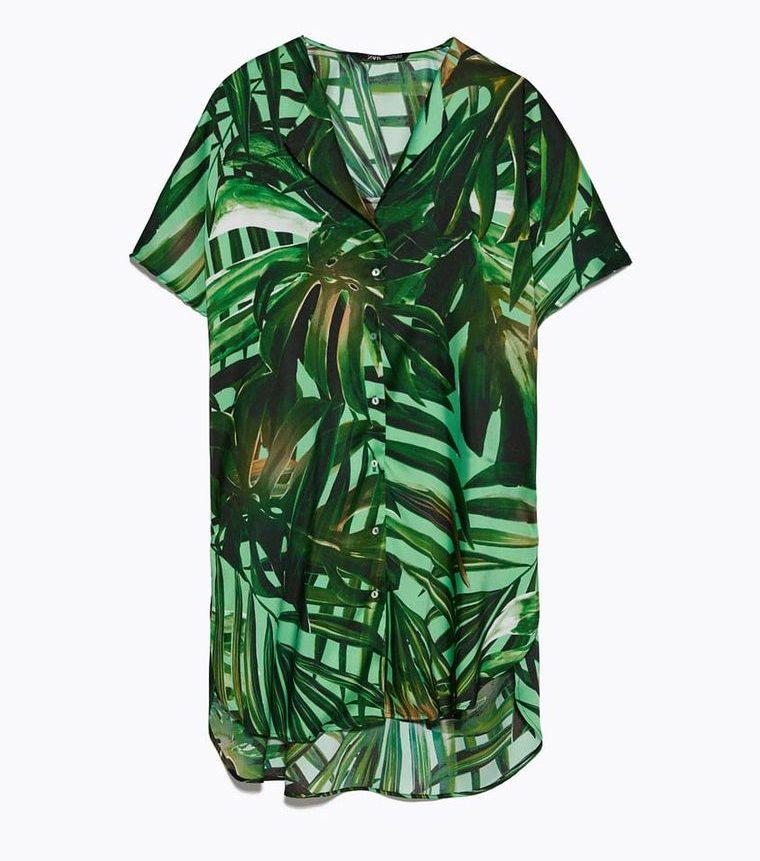 Zara se ha inspirado en el Jungle Dress de Jennifer Lopez en un conjunto perfecto para estar en casa y en la calle