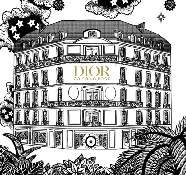 Dior pone una nota de color tropical a tus días con su primer 'coloring book'