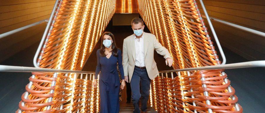 La reina Letizia estrena vestido Massimo Dutti para reunirse con la cultura