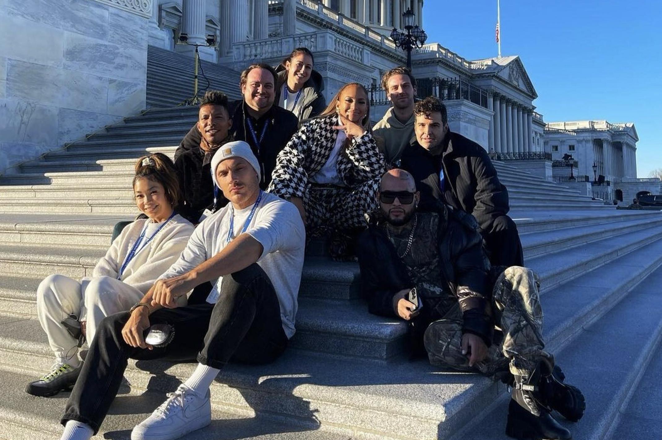 Lady Gaga y Jennifer Lopez ya están en Washington y nos dejan grandes lookazos