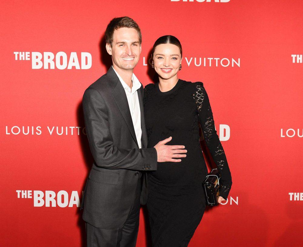 Miranda Kerr y Evan Spiegel reciben a su hijo