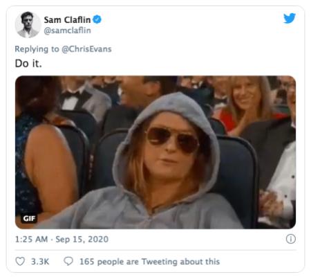Tras publicar una fotografía accidentalmente, Chris Evans vuelve a romper redes sociales