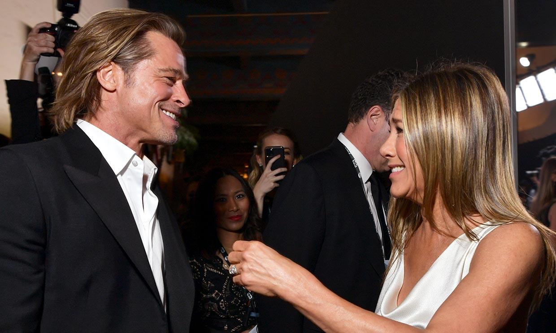 Así fue la videollamada del reencuentro entre Jennifer Aniston y Brad Pitt