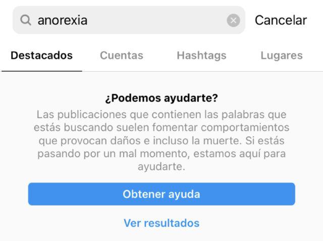 Instagram y TikTok implementan nuevos recursos para ayudar con los trastornos alimenticios de sus usuarios