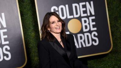 Tina Fey llevó el mismo estilo que Katie Holmes para los Golden Globes