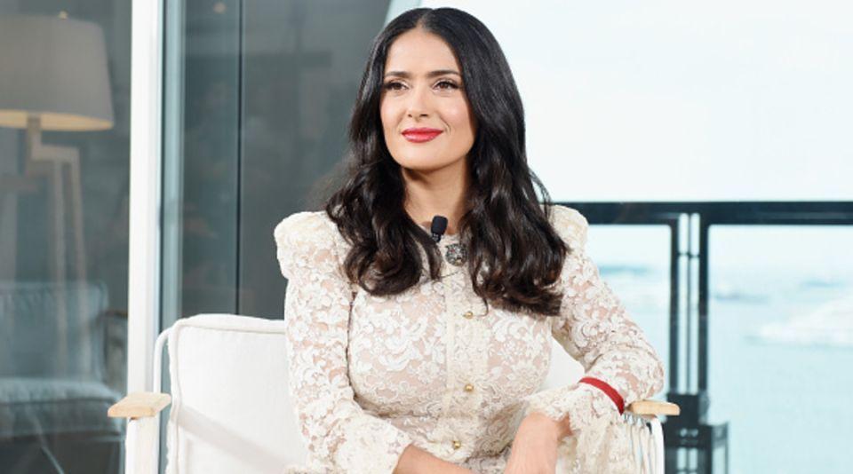 Salma Hayek tuvo miedo de filmar su primera escena de sexo en una película