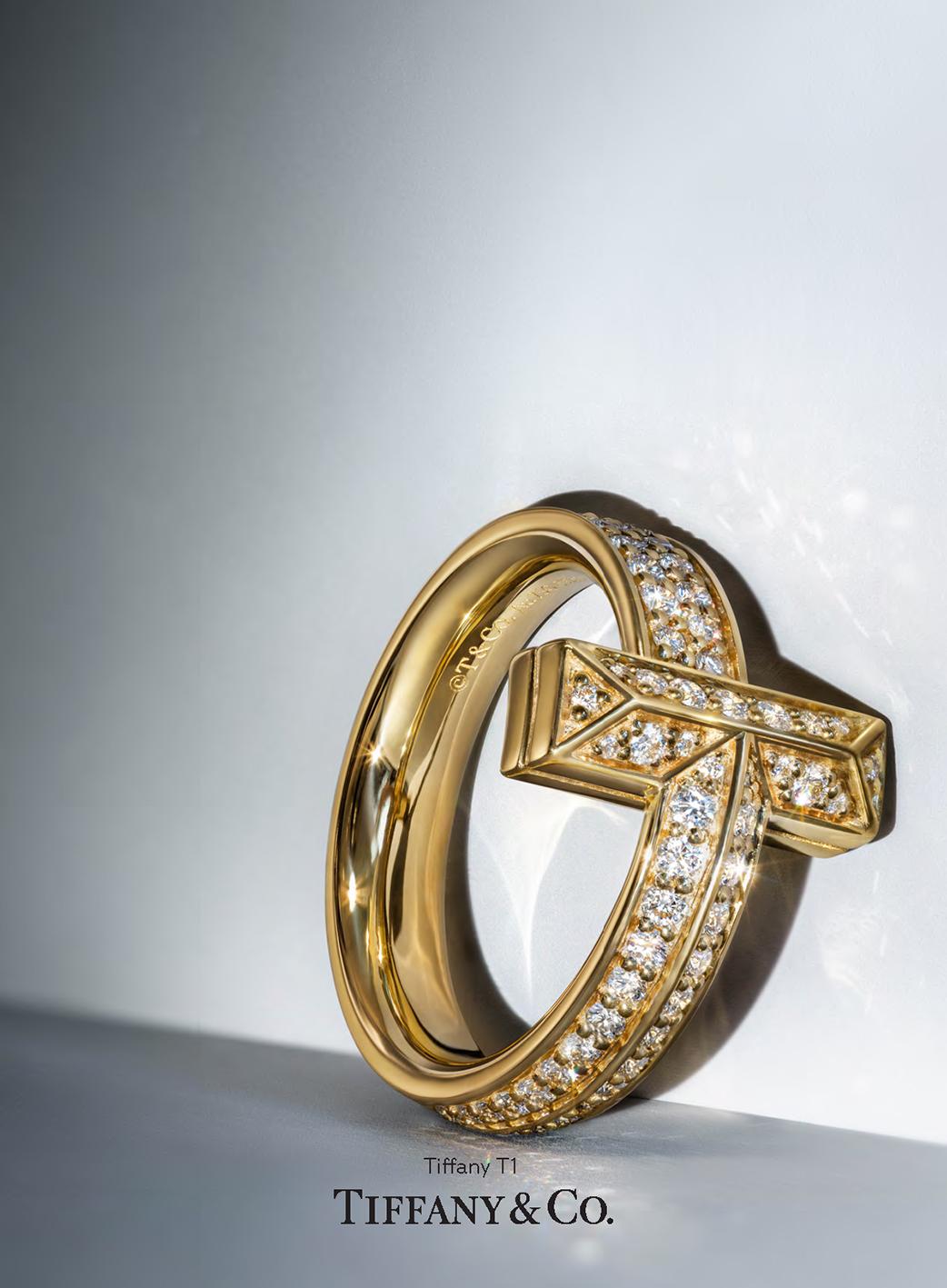 Anillo T1 oro amarillo diamantes